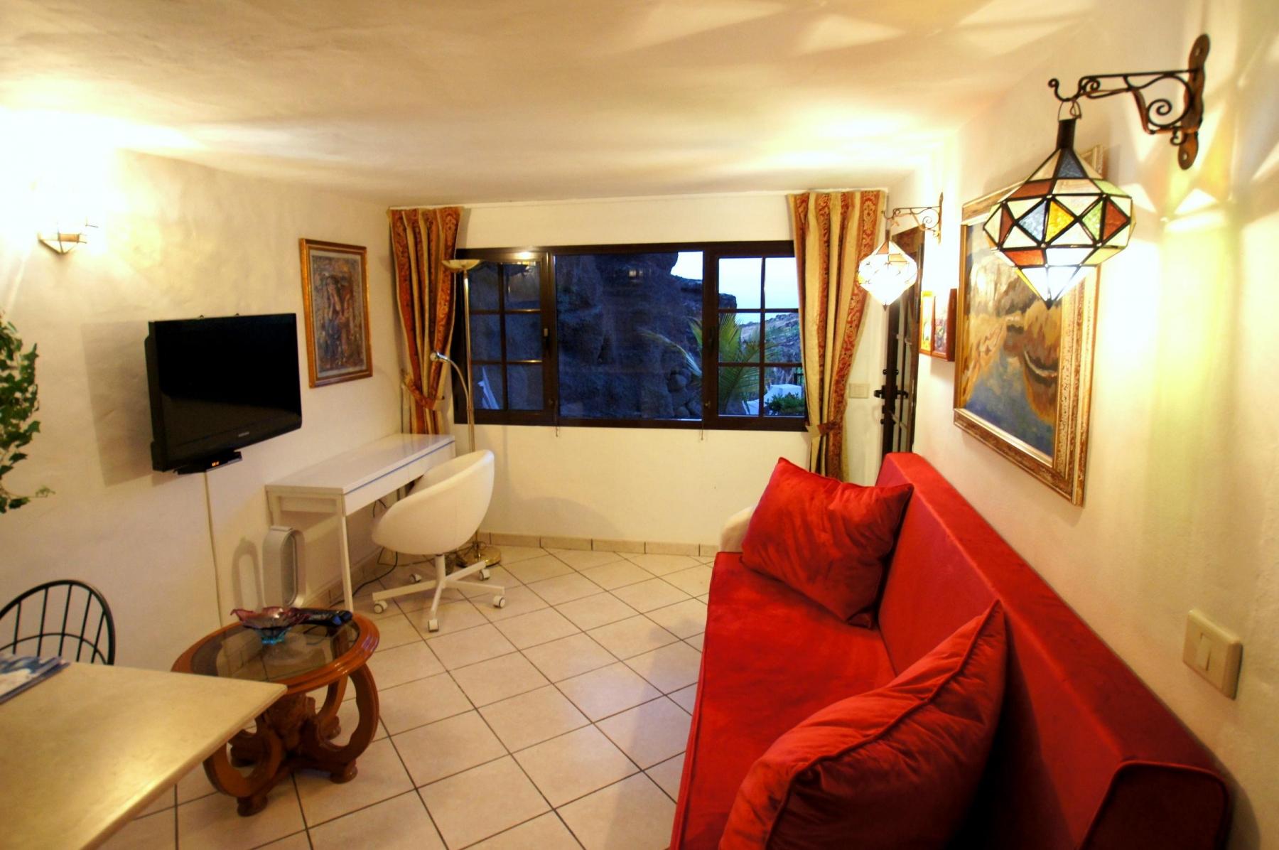 Ferienhaus Castillo-Schlaraffenland III in La Asomada, Wohnzimmer