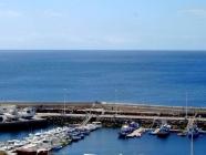 Ferienwohnung in Puerto del Carmen Blick auf den Hafen